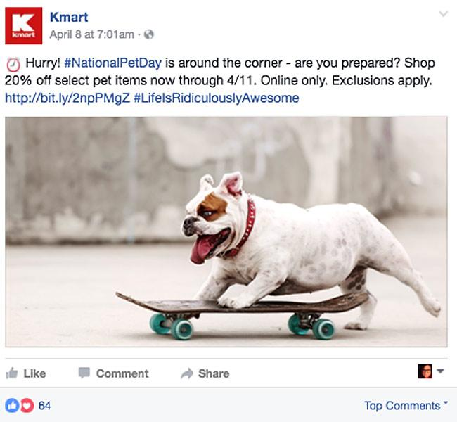 Kmart 'National Pet Day' Promotion